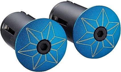 Supacaz Star Plugz Bar Plugs Anodized Carbon