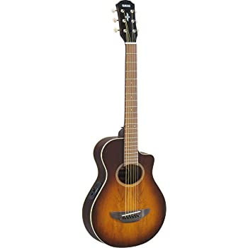yamaha apxt2ew 3 4 size acoustic electric guitar with gig bag tobacco sunburst. Black Bedroom Furniture Sets. Home Design Ideas