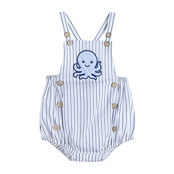Lil Cactus Baby /& Toddler Boys Embroidered One-Piece Bubble Romper