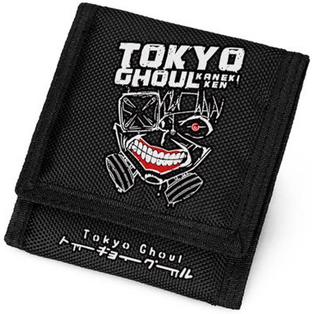 Tokio Ghoul Ken Kaneki cartera, hombre/mujer Oxford tela Bifold ...