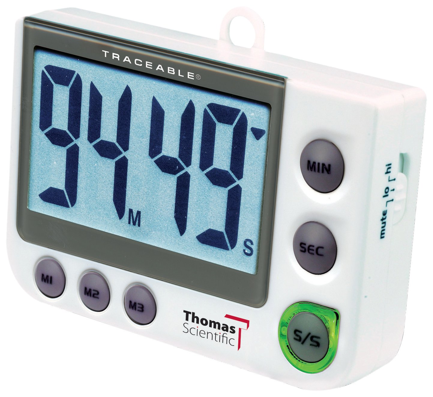 Thomas 5013 Traceable Flash LED Alert Big-Digit Alarm Timer, 0.01 Percent Accuracy, 2-1/4 Width x 3-1/2 Height x 5/8 Depth Thomas Scientific
