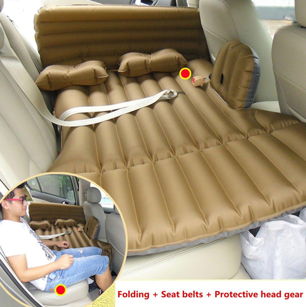 MEYLEE Auto-Aufblasbare Matratze-Reise-Kampierendes Luft-Bett-Universal-SUV Verlängerte Luft Couch Mit 2 Luftkissen - Braun