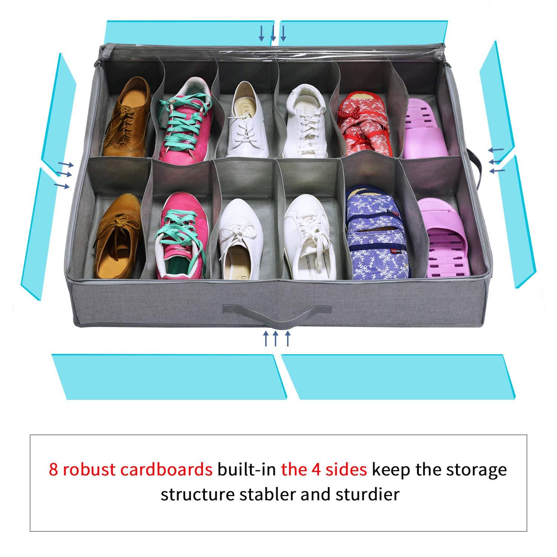 Interior del zapatero con divisiones para ordenar correctamente el calzado