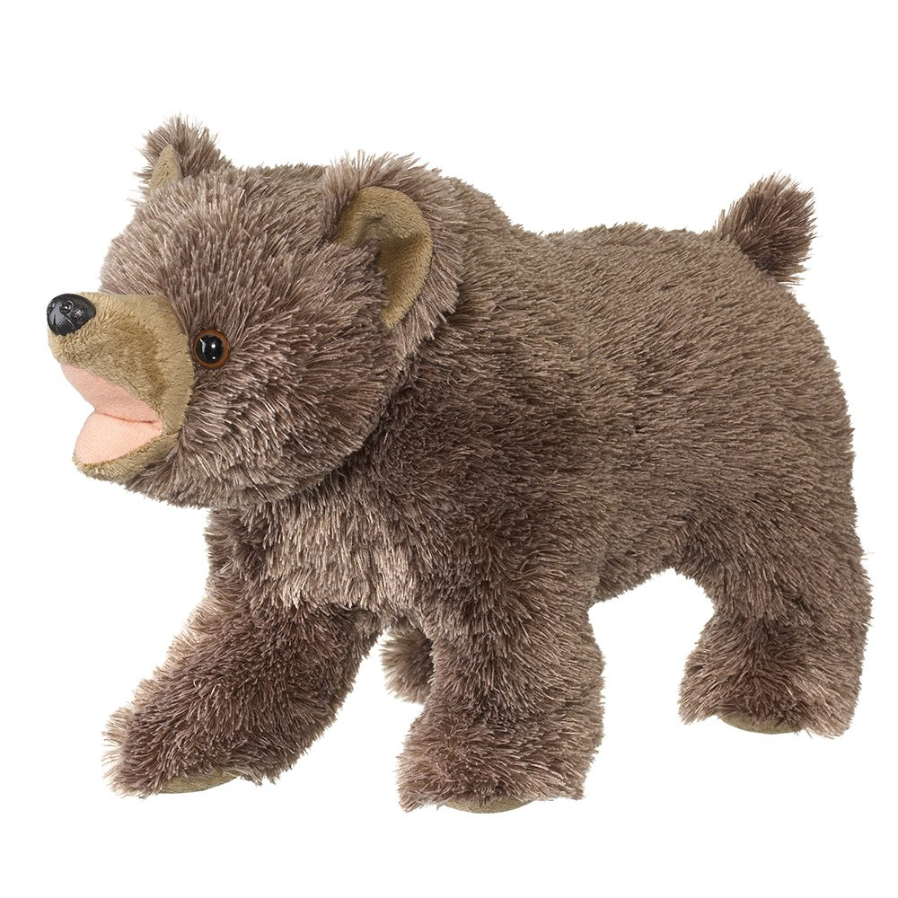Wildlife Artists Wild and Wonderful Callers Stuffed Grizzly Bear with Realistic Roaring Sound Chip, Kids Plush Talking Animal