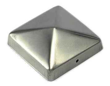 Beau design vaste gamme de prix imbattable Chapeau / Capuchon de clôture en acier inoxydable en forme de pyramide pour  poteau 9 x 9 cm de Gartenpirat®