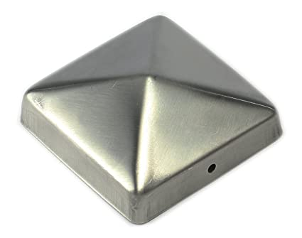 Tapa para poste, embellecedor de poste, vallas, pirámide 91, 9x9 cm
