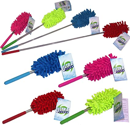 Microfiber Duster Telescopic Handle Extendable Magic Cleaning Feather Brush UK!