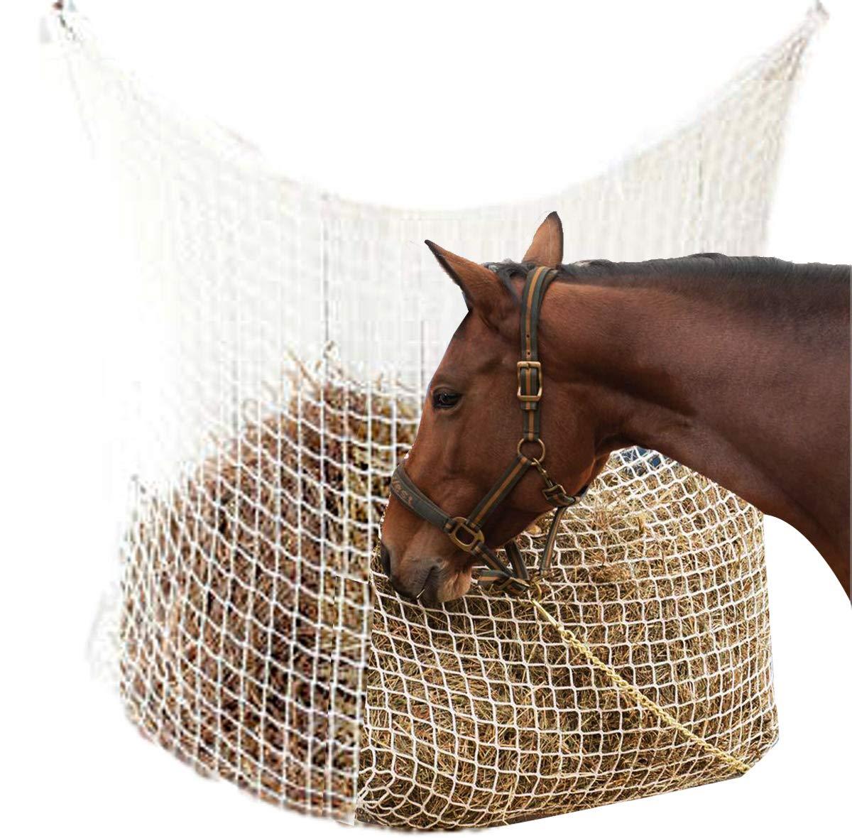 NRTFE Hay Net Slow Feed Bag for Horse Feeder Full Day Feeding Grazing Extra Large (63''x40'') by NRTFE
