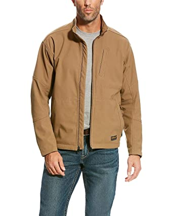 32f5efbbf270 Amazon.com  ARIAT Men s Rebar Canvas Softshell Jacket  Clothing