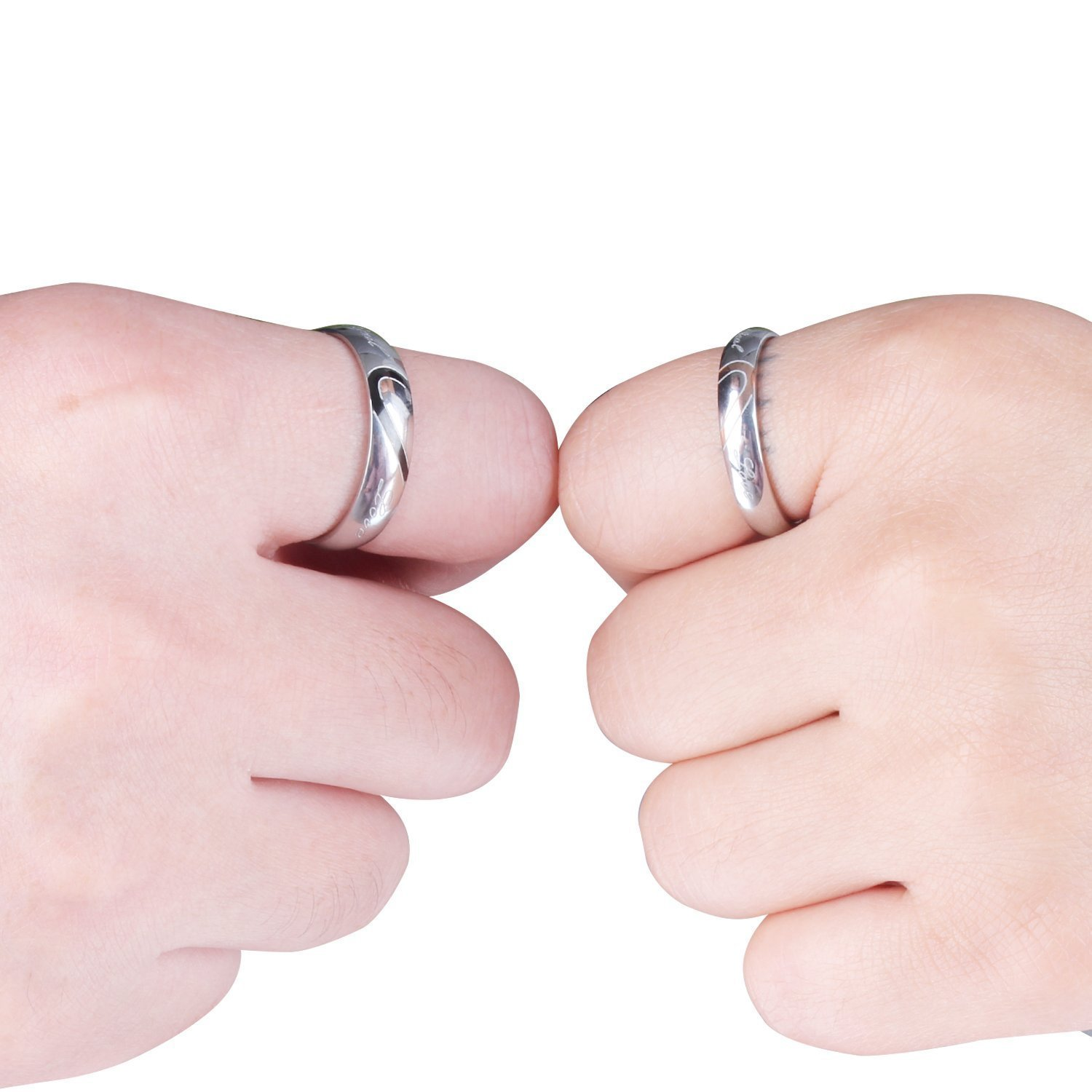 Amazon.com: Couple Ring Stainless Steel Promise \