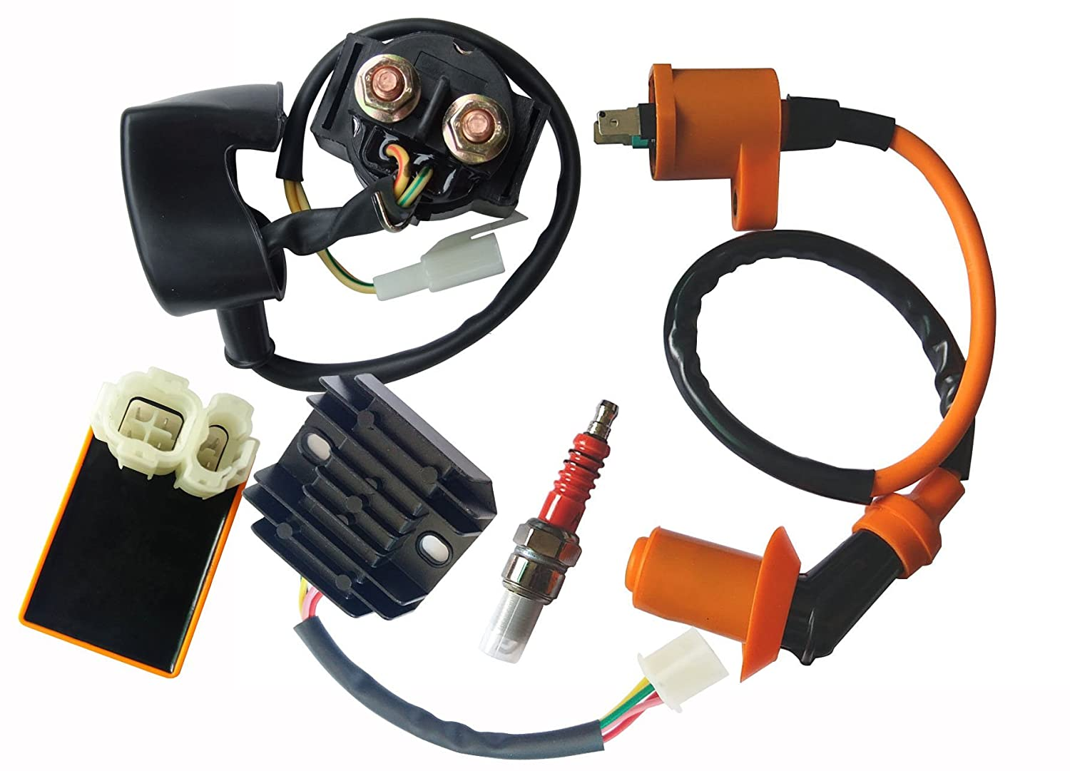 Ignition Coil CDI Regulator Rectifier Relay Kit 150 200cc Chinese ATV Quad