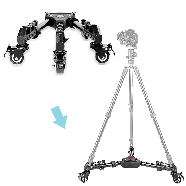Neewer - Fotografía Professional Heavy Duty Trípode Dolly con Ruedas de Goma y Patas Ajustables para Canon Nikon Sony Cámaras DSLR Videocámara Iluminación ...
