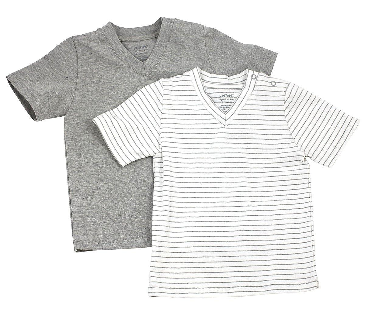 Amazon.com  Organic Cotton Jersey Baby Stripe T-Shirt Set (2 Pack ...