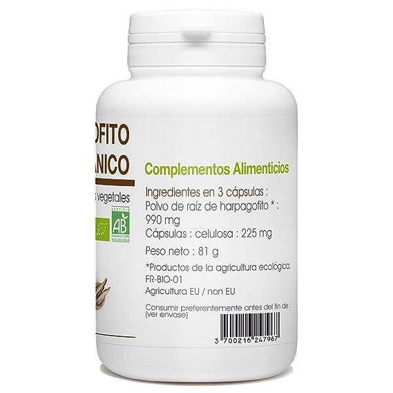Garra del Diablo - Harpagofito Orgánico - Harpagophytum procumbens - 330mg - 200 cápsulas vegetales: Amazon.es: Salud y cuidado personal