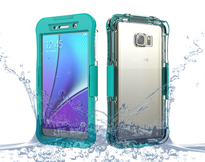 huge discount 663ee 28d98 Galaxy Note 5 Case, Moonmini Waterproof Shockproof Dirtproof Durable Full  Sealed Protection Case Cover for Samsung Galaxy Note 5, Green