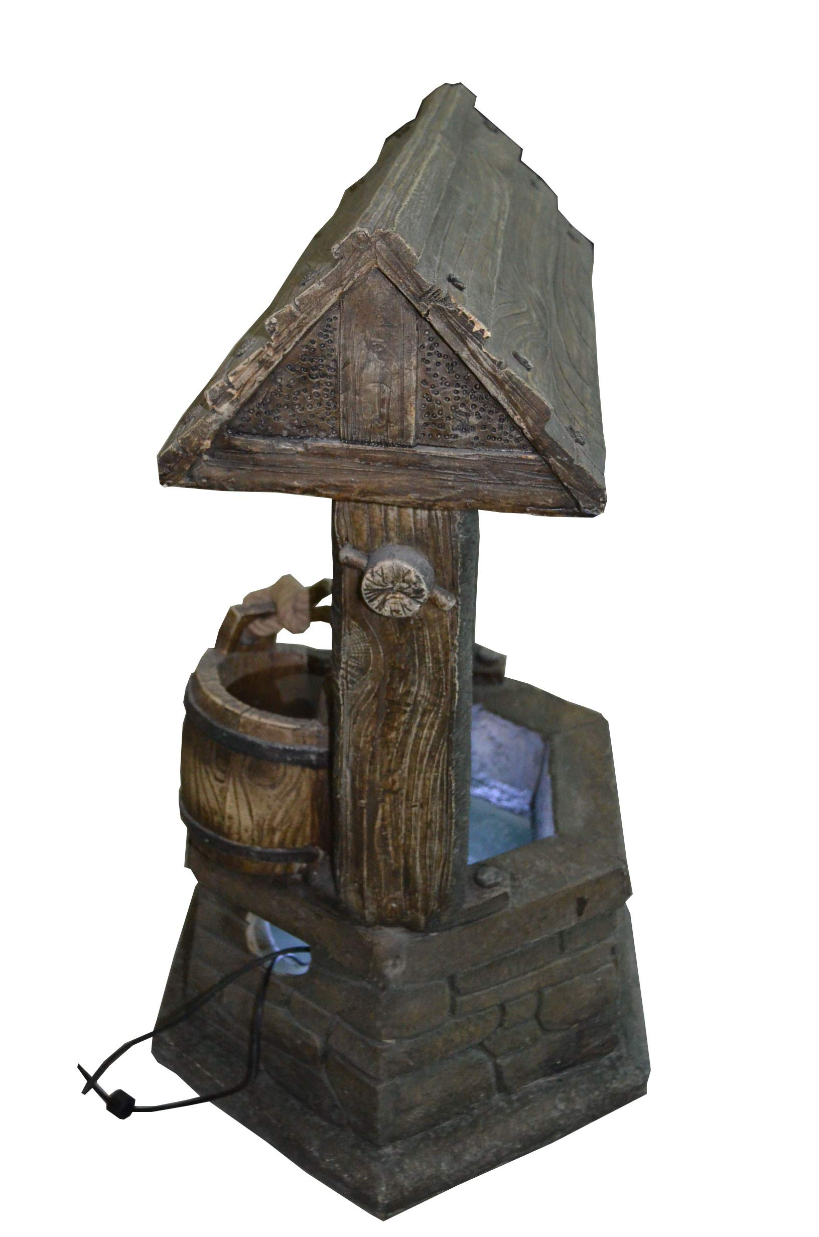 Hi-Line Gift Ltd Fountain- Wishing Well with Pouring Bucket & LED Light by Hi-Line Gift Ltd. (Image #6)
