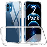 [2 Pack] CTYBB Compatible with iPhone 12 Mini Case, Military Grade Protective Cases, 5.4 inch, Clear