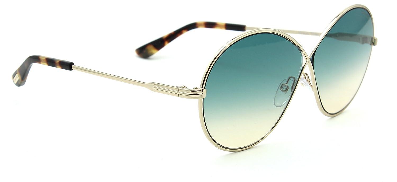 b76939c3a6c87 Amazon.com  Tom Ford FT 0564 RANIA-02 Women Metal Oval Gradient Sunglasses  28P  Clothing