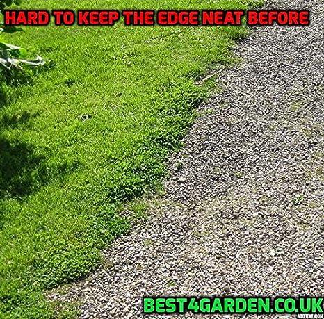 Borde de jardín de plástico reciclado para césped, caminos, bordes ...