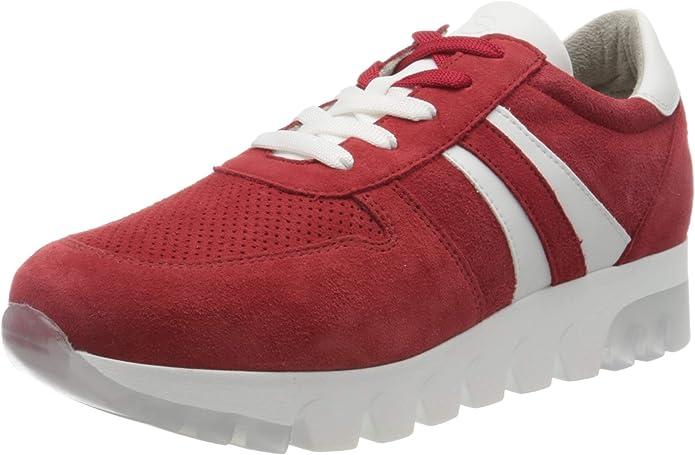 Tamaris Sneakers 23750-24 Damen Lippenstift Rot Suede