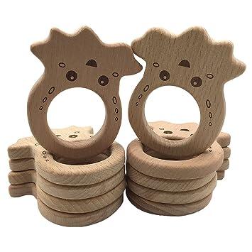 Coskiss 10pcs Pulpo de madera pendientes de madera de haya ...