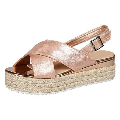 3d425117770 Feet First Fashion Kora Womens Espadrilles Platform CAS Champagne 8 UK 41  EU  Amazon.co.uk  Shoes   Bags
