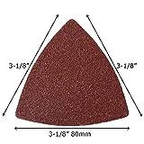 XXGO 51 Pcs Triangular 3-1/8 Inch Hook and Loop