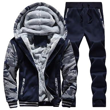 3ac42fb2c Amazon.com  Fashionmy Boys Winter Sweatsuits Plush Warm Tracksuits ...