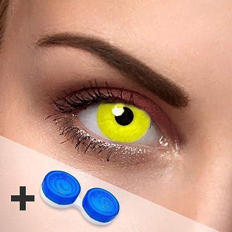 Colores Contacto lente Crazy Amarillo Amarillas Avatar Contacto lente Colores Sin grosor con lente de contacto