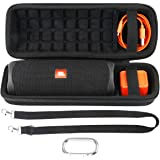 co2crea Hard Travel Case Replacement for JBL FLIP 5 Waterproof Portable Bluetooth Speaker (Black Case + Inside Black)