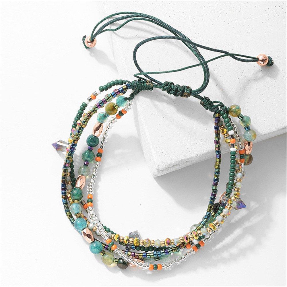 Joya Gift Adjustable Wrap Bracelet Bohemian Braided Beads Summer Beach Anklet for Women Girls by Joya Gift (Image #3)