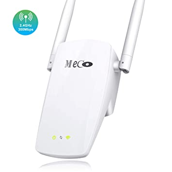 MECO ELEVERDE Repetidor WiFi N300 Amplificador Señal de WiFi 300Mbps 2.4ghz Extensor Red WiFi Repeater