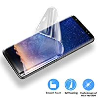 Tersely Samsung Galaxy S8 Plus Screen Protector, FULL COVERAGE HYDROGEL AQUA Flex Screen Protector 0.18mm Thin Flexible Full Cover 3D Curved Soft TPU Film for Samsung Galaxy S8 Plus [NOT Tempered Glass][NO BUBBLES] [Case Friendly] [SCRATCH PROOF] [ULTRA TOUGH]