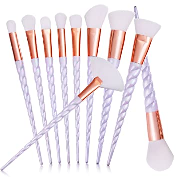 pretty makeup brush sets. mixbeauty 10pcs unicorn rose gold makeup brush set professional foundation powder cream blush kits ( pretty sets