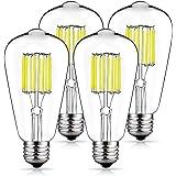 Vintage LED Edison Bulb 100W Equivalent Daylight White 4000K, DORESshop No Dimmable 10W ST64 Antique LED Filament Light Bulb,