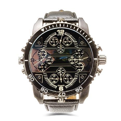 67628e341ee482 Marca orologi da polso uomo Strani cinturino in pelle (3233-B ...