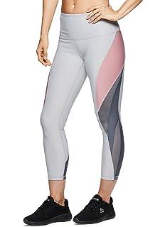264f642020856 RBX Active Women's Athletic Gym Workout Yoga Capri Length Legging Mesh