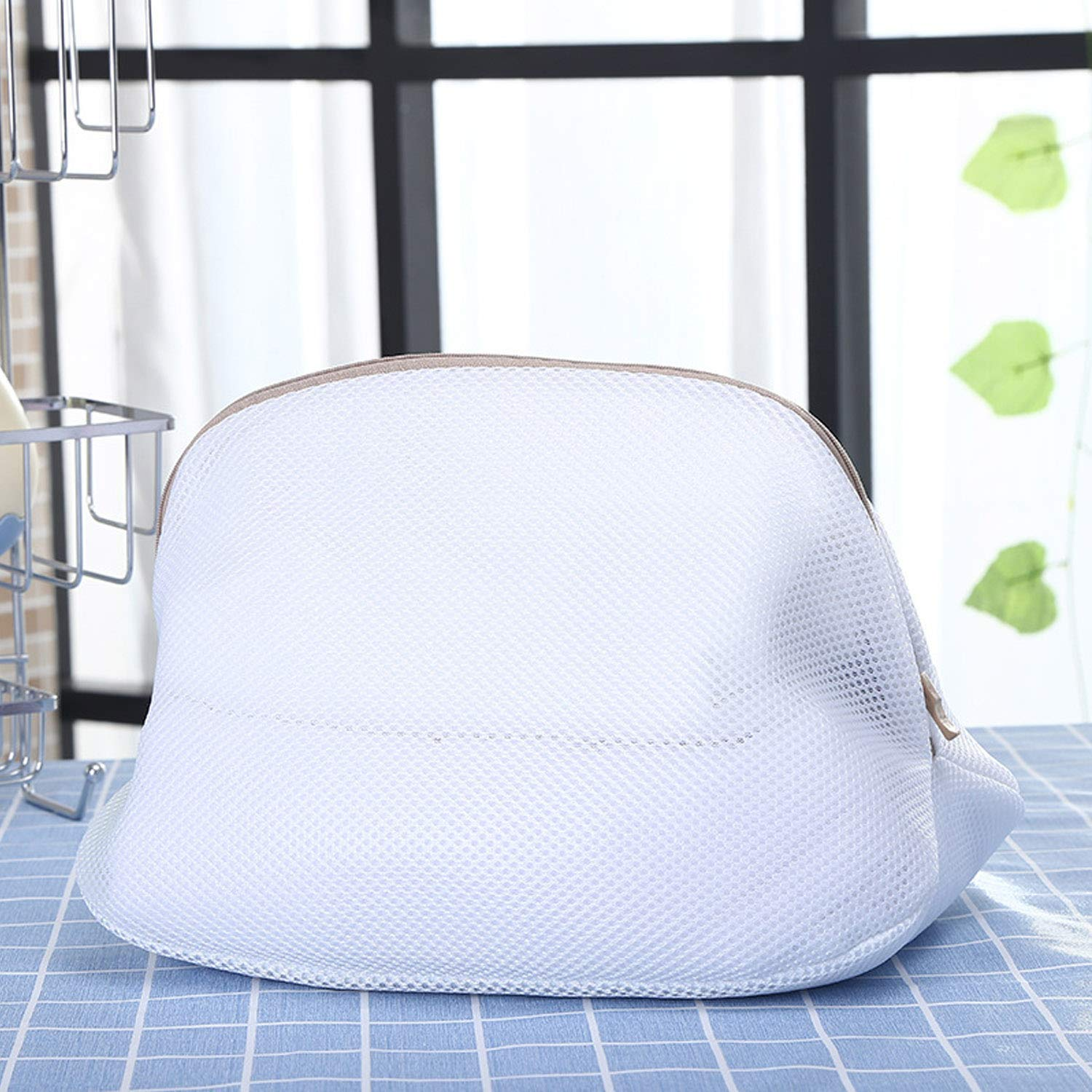 2pcs Double Layer Mesh Laundry Net Bag Storage Bags with Zip Closure for Washing Machine Clothes Bras Socks Shoes