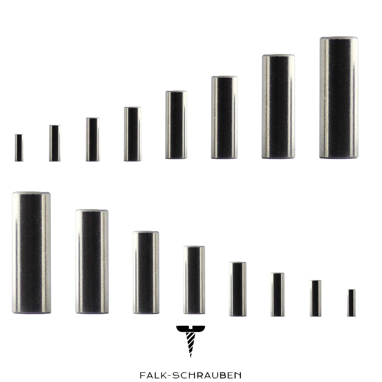 Gewindemuffen M8 x 50 rund D11 25 St/ück Edelstahl A2 V2A VA Falk-Schrauben Distanzmuttern Verbindungsmuttern Langmuttern