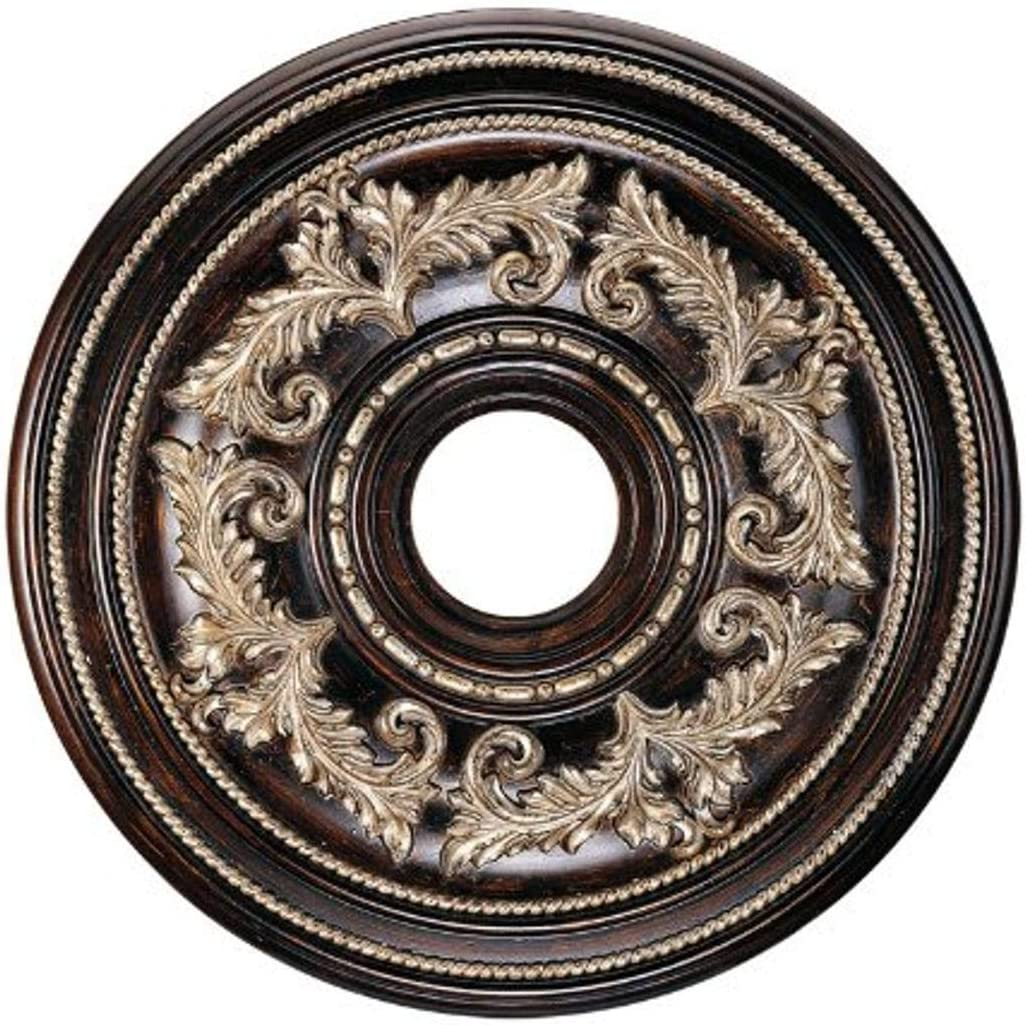 Livex Lighting 8200-40 Ceiling Medallion in Hand Rubbed Bronze with Antique Silver Accents