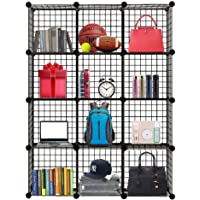 Wire 12 Cube Storage Shelves Closet Organizer Bookcase, Cabinet for Home Office Liveing Room