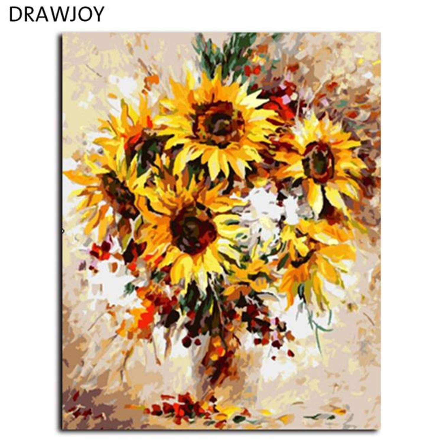 Amazon.com: Batop Framed Picture Painting by Numbers Modern Flower - Home Decor for Living Room - Hand Unique Gifts Picture Wall Art (40x50cm) (G453) (DIY ...