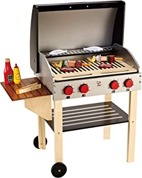Hape Non-Toxic And Safe Wooden Grill Sets For Kids