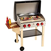 Hape E3127 Gourmet Grill with Food Kitchen Playset (22 Piece)