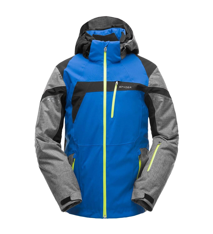 Spyder – Titan – Chaqueta de esquí para Hombre, titán (Titan), Hombre, Color Turkish Sea/Tech Flannel/Noir, tamaño FR : 2XL (Taille Fabricant : XXL ...