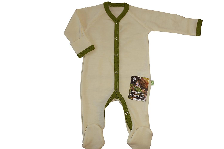 GREEN ROSE Strampler aus Merinowolle für Baby