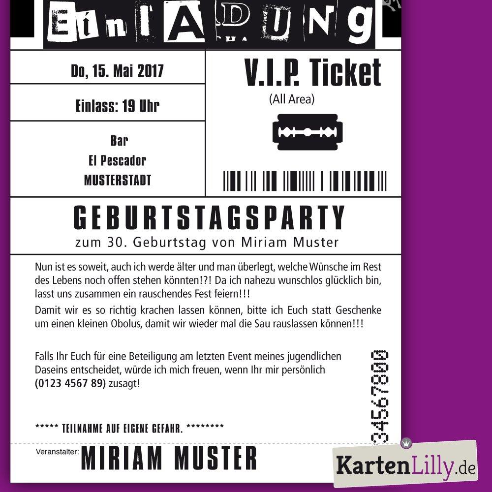 Atemberaubend Konzert Ticket Einladungsvorlage Fotos - Beispiel ...