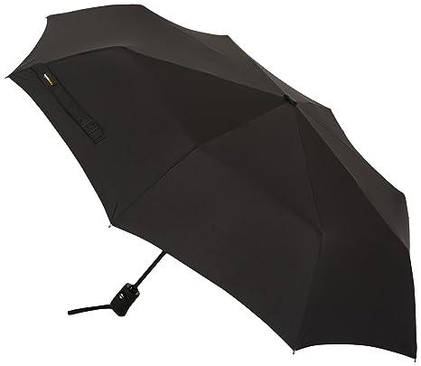 AmazonBasics - Paraguas de viaje automático (diámetro 98 cm), color negro