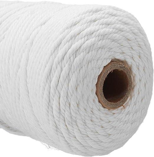 DULALA Cuerda de cordón de algodón 100% Puro Trenzado Beige ...