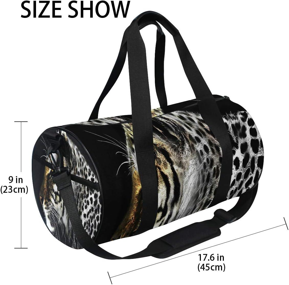 Fractal Leopard Sports Bag